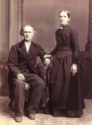 1875 - William Horsnell and Rebecca in Iowa Rev.