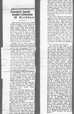 Hine Havenar 1926 newspaper article
