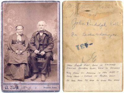 John and Dora Kohl Cabinet Card