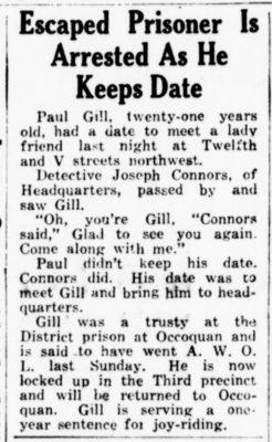 Joseph Connors Arrests Escaped Prisoner