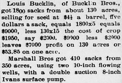 LC Bucklin 1800 sacks