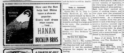 Two Bucklin Ads 1902