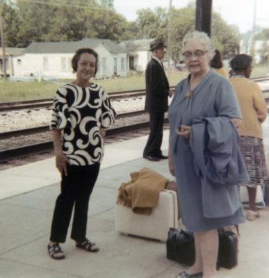 1970 - Tez Mouton and Erie Patureau Landry travelling