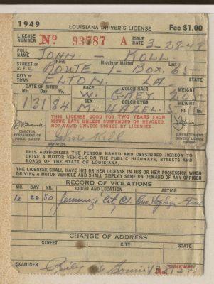 John Koll - Driver's License