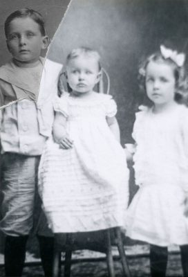 Sylvan, Myrtle, and Grace Phenice in 1907.